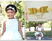 Gold Bow Headband, Gold Baby Bow, Gold Baby Headband, Gold Glitter Bow Headband, Glitter Bow Headband, Baby Bow, Baby Headband, Toddler Bow