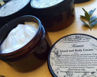 Gentle Hand and Body Cream, body butter, lotion, moisturizer, skin cream, hand cream, vegan, choose your scent, made to order