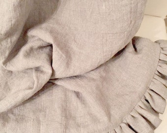 washed linen Scarf for the Bed  Sofa or Chair