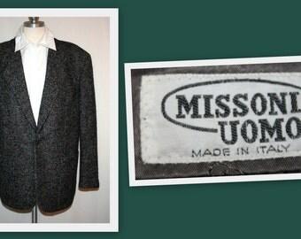 Missoni Uomo 1980s Vintage Wool Sportscoat Jacket