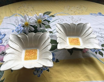 Daisy Bowls,  Set of 2,  Made in Italy, Vintage