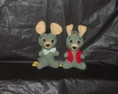 Vintage HANNA BARBERA Pixie and Dixie Mouse Plush Toys RARE find