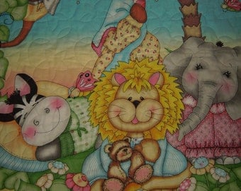"""Springs Creative Fabric-Nursery """"Bazooples"""" Sweet Dreams-Handmade Quilt.-Made is USA by MJ Quilts-Free Shipping"""