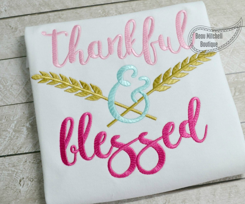 Embroidery Design Thankful Arrow
