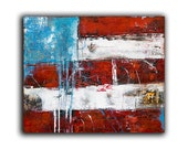 Original Painting USA Flag Abstract Painting wall art by Erin Ashley