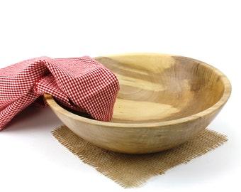 "Wooden 11"" Sweet Gum Salad Bowl / Wooden Serving Dish / Pasta Bowl"