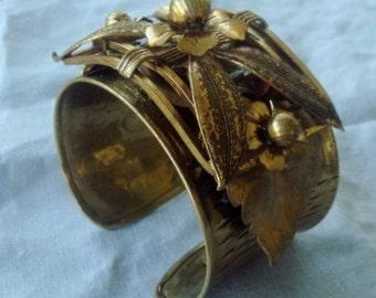 Vintage 1940's ART bracelet - vintage cuff and components