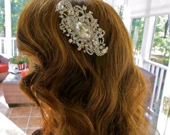 Rhinestone Bridal Hair Comb, Rhinestone Wedding Hair Comb, Rhinestone Bridal Hair Accessory, Rhinestone Wedding Hair Accessory