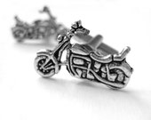 Motorcycle Cufflinks - Mens Gifts For Brother - Biker Motorcycle Gifts For Him - Mechanic Gift - Silver Cufflinks - Silver Cuff Links