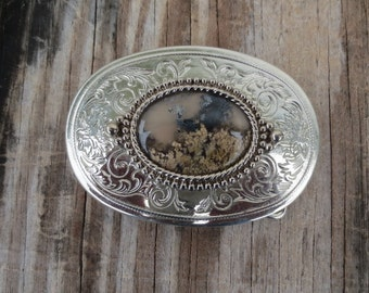 Vintage Belt Buckle with Stone