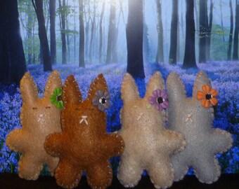 Stuffed animal bunnies little cute bunny felt kids toys