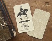Business Cards, Downton Abbey, Equestrian Gifts, Gift for Her, Calling Cards, Equestrian Art, Custom Stationary, Custom Stationery, Dressage