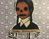 Pumpkin Wednesday vinyl sticker