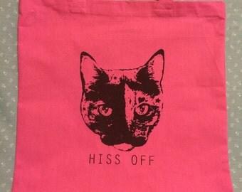 HISS OFF tote bag