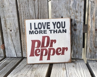 Dr Pepper Diet Coke Pepsi soda hand painted wood sign gift home decor Mother's Day birthday personalized photo prop