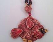 Decorative wall tile/cardinal/red bird/cardinals/wall tile/ready to ship/wall hanging