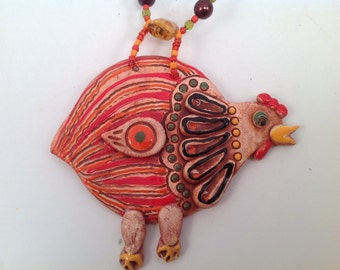 chickens/Decorative wall tile/ceramic tile/chicken/barnyard art/clay tile/ceramic tile/charms