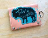Bison vegan leather travel wallet