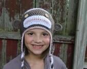 Sock Monkey Hat, Newborn Photo Prop,Sock Monkey Hat, Girls Sock Monkey Hat, Boys Sock Monkey Hat, Baby Sock Monkey Hat, MollyChic