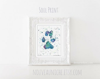 Rescue Mom Gifts Pet Loss Gifts Cute Paw Print Gift Paw Print Art Pet Memorial Art Watercolor Dog Print Animal Lover Gifts Bereavement Gifts