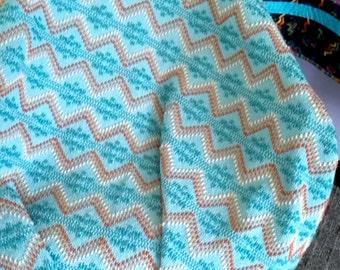 Dyed Light Teal Monks Cloth Blanket