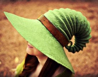 Halloween Wide Brim  Witch Hat. Wizard Costume Hat. Fantasy Hat. Cosplay Hat. LARP.