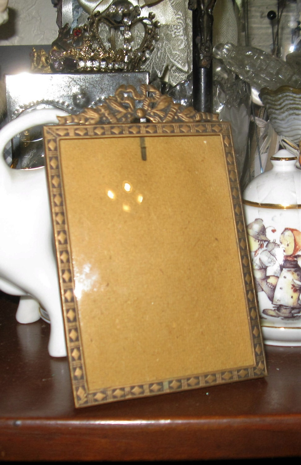 Antique Picture Frame Germany Art Deco Small Pressed Metal