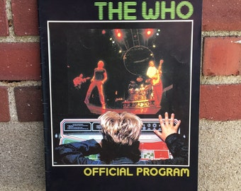 Vintage Retro 1982 The Who Program