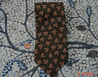 Vintage A K A Eddie Bauer Silk Necktie - Big and Tall Tie