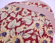 Sunflower Placemats, Kitchen Place Mats, Sunflower Decor, Country Decor Gift Under 30