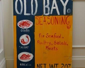 HandPainted  SOOOOOO Baltimore Old Bay Sign