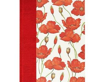 Blank Book  Blank Paper Journal POPPIES