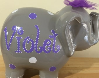Purple Piggy Bank Etsy