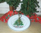 Vintage Salem Christmas Eve Porcelain Handled Serving Plate