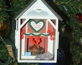 Hallmark Keepsake Magic Ornament - Flickering Light - Our First Christmas Together -1989