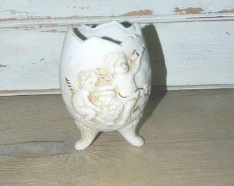 Vintage Inarco Egg Vase - Cherub Vase