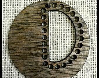 """Stitchable Wooden """"Semi"""" Pendant DIY *Jacobean/ Maple/ Ebony/ Rich Cherry/ Jacobean/ Cherry/Walnut*"""