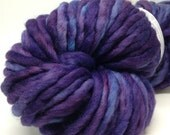 Purple chunky hand dyed merino yarn, single ply, Violet, made to order