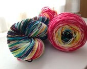 Variegated gradient Merino sock yarn, Carousel