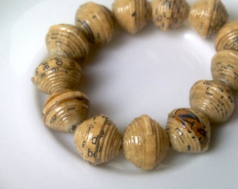 13 paper beads - brown -