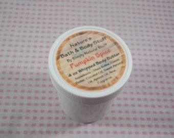 Pumpkin Spice Whipped Body Butter 4oz Jar Of Body Butter