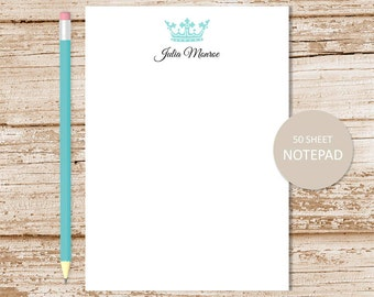 personalized crown notepad . crown note pad . royal crown . personalized stationery . custom stationary