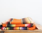 "Vintage Mexican Serape Blanket 45"" by 83"""