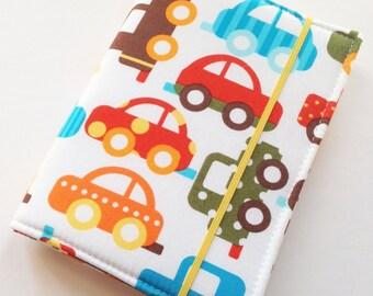 READY TO SHIP - Children's Crayon Wallet Coloring Case - Ready Set Go Organic Cars