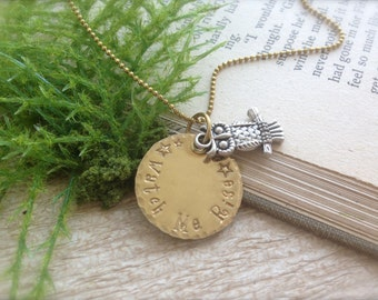 Owl Watch Me Rise Necklace