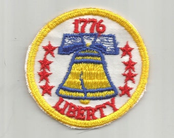 Liberty 1776 Authentic 1970s Vintage DIY Craft Sewing Patch Retro Applique