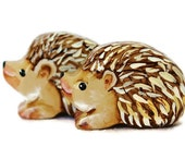 Wooden Noahs Ark Animals Toy Hegehog Pair