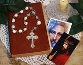 "Unbreakable Historical Replica ""Memento Mori"" One-Decade Catholic Rosary"