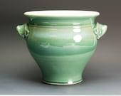Ceramic stoneware kitchen utensil holder jade green 2599
