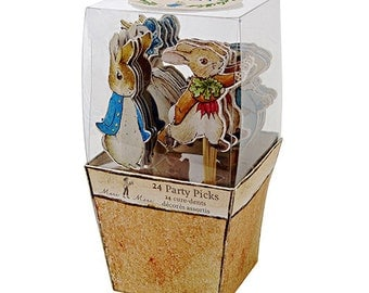Peter Rabbit party picks cupcake toppers, Easter Beatrix Potter- Limited quantities